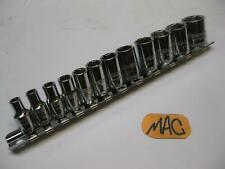 Mac Tools 12 Pc 14 Drive Metric Socket Set 6 Point Smgm126br 5 To 15mm New