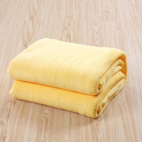 Soft Home Warm Solid Micro Plush Fleece Blanket Throw Rug Sofa Bedding Mat US
