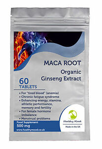 maca wurzel extrakt ginseng 500mg andin gesundheit erg nzung 60 tabletten ebay. Black Bedroom Furniture Sets. Home Design Ideas