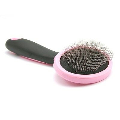 Shedding Tool Brush Comb Pet Fur Grooming Dog Cat Long Short Hair Thin Pins Pink