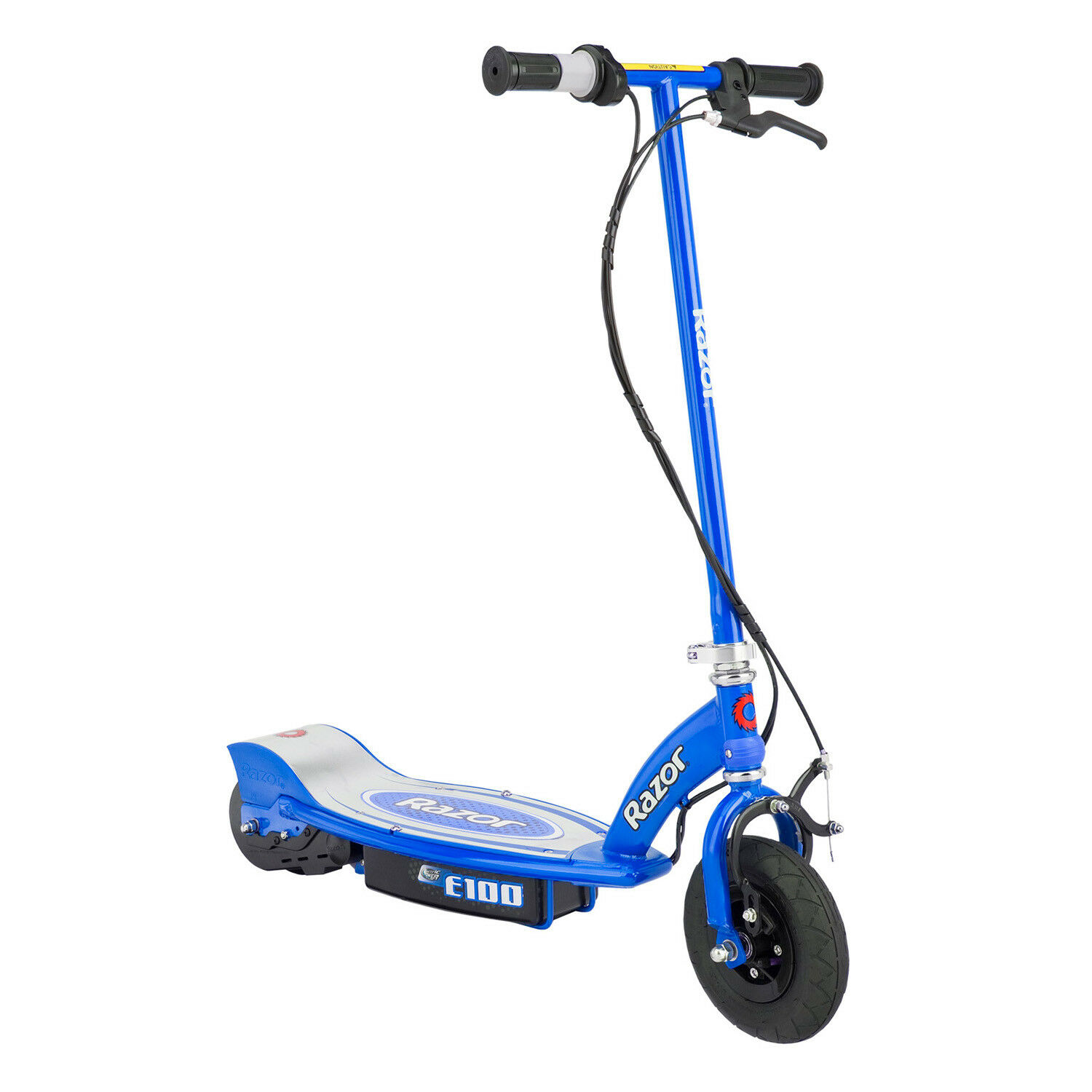 Razor E100 Motorized 24 Volt Rechargeable Electric Power Kids Scooter, blueee