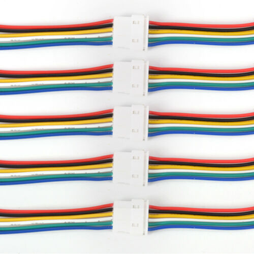 5 sets Micro JST 1.25mm 2-Pin to 6-Pin Connector plug with Wire Cable TNWUS