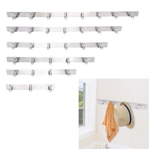 1//4//5//6//8Hooks Coat Hat Clothes Robe Holder Rack Hook Door Wall Hanger Stainles