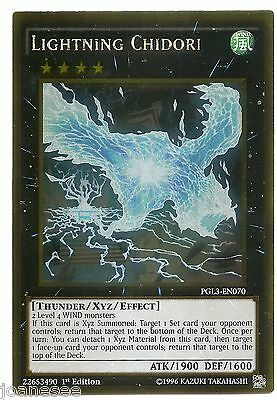 PGL3-EN070 Lightning Chidori Gold Rare 1st edition Mint YuGiOh Card