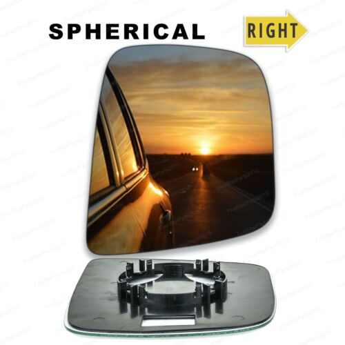Right hand driver side wing door glass mirror for Nissan NV200 2010 clip on