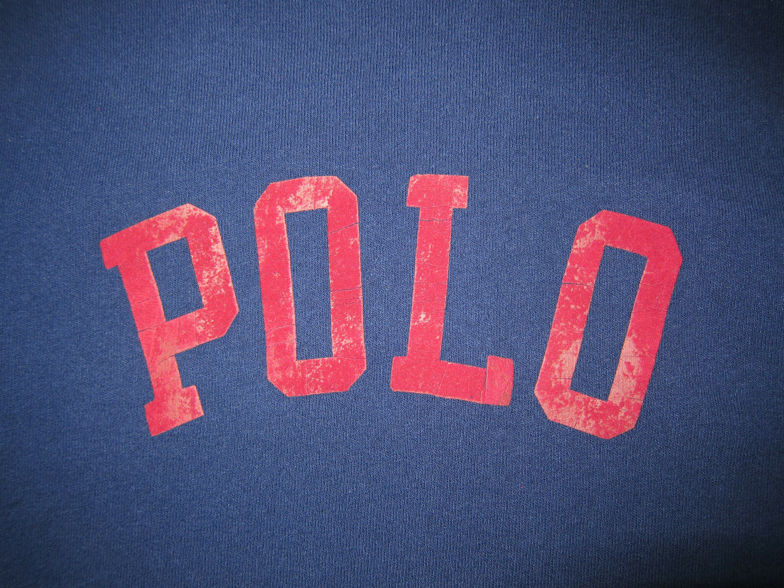 Polo Ralph Lauren Navy blu rosso Varsity Logo Shirt Baseball Long Sleeve T Shirt Logo Medium 56aa74