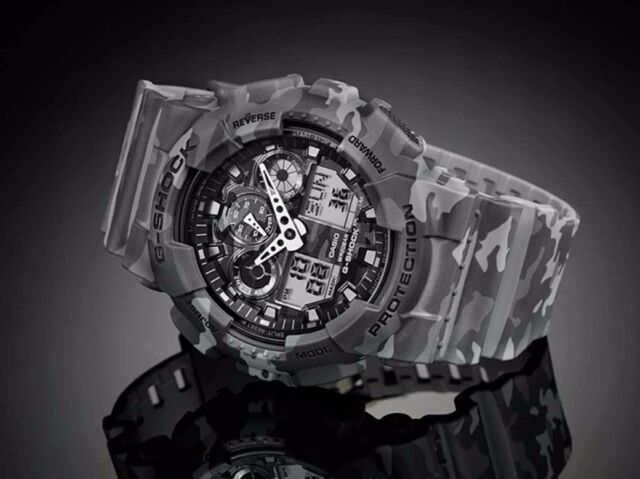 GA-100CM-8A Camouflare Casio G-shock Watches Analog Digital Resin Band 200m New