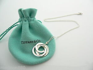 Tiffany co silver interlocking circles necklace pendant charm 174 image is loading tiffany amp co silver interlocking circles necklace pendant aloadofball Gallery