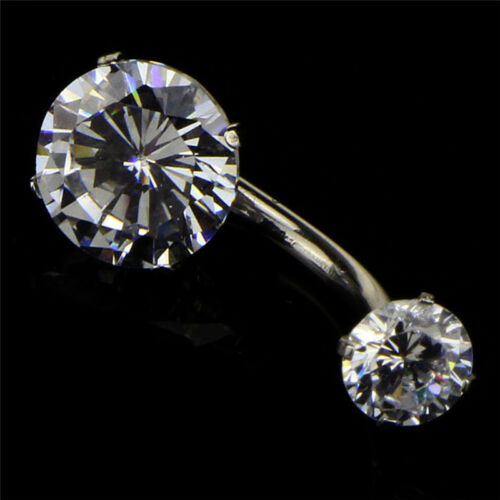 Surgical Steel Navel Rings Crystal Belly Button Ring Bar Piercing Jewelry  PT LK