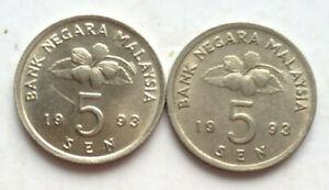 Parliament-Series-5-sen-coin-1993-2-pcs