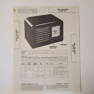 SAMS PHOTOFACT SERVICE MANUAL 37-2 APEX INDUSTRIES RADIO MODEL 4B5