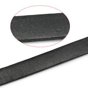 2M-Schwarz-Flach-Lederband-Lederschnur-Lederriemen-Schmuck-Kordel-10x2mm