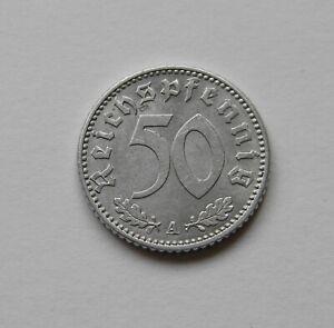 Tercer Imperio: 50 Reichspfennig 1941A, J. 372 , Excelente /Recién Acuñado, III