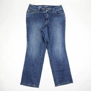 8dd9244af4d Lane Bryant Women s Jeans Petite Size 16 Simply Straight Dark Blue ...