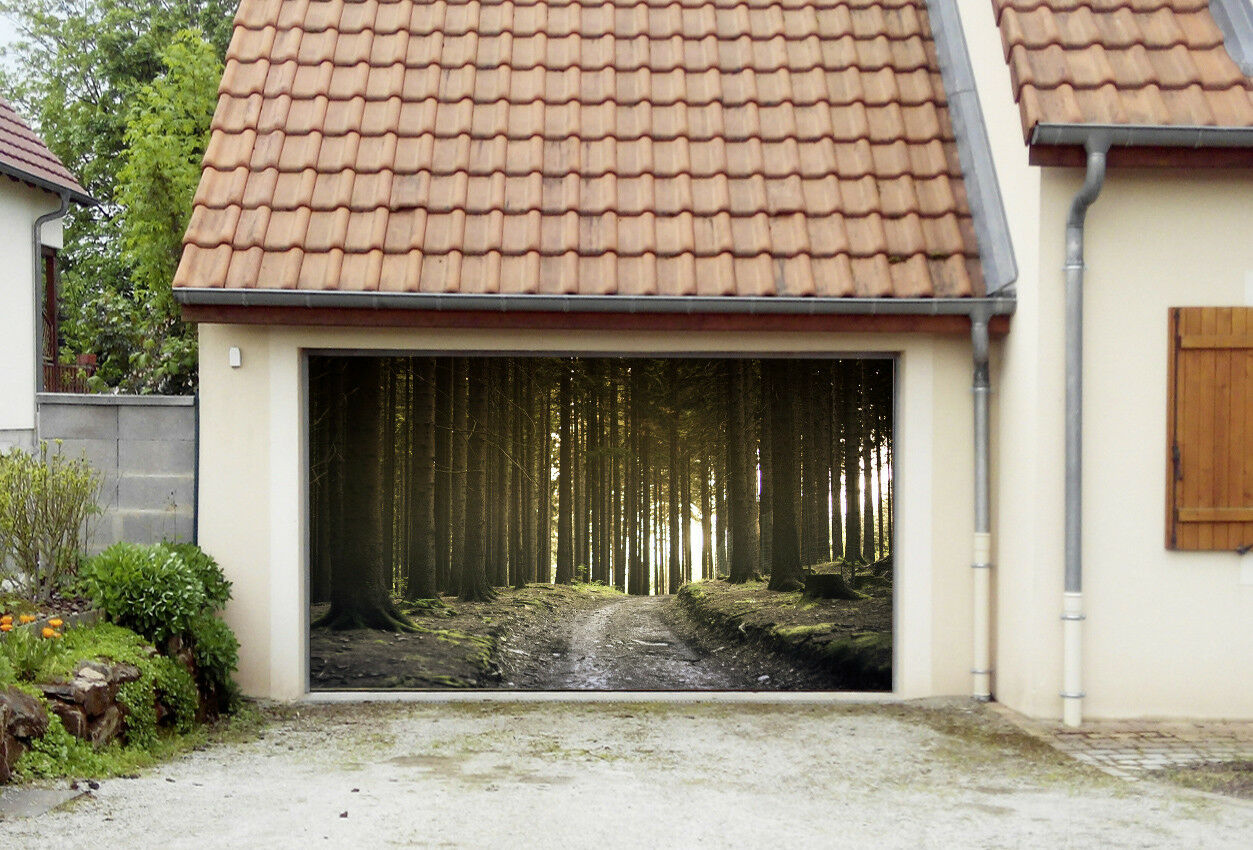 3D Thrive Woods 4 Garage Door Murals Wall Print Decal Wall AJ WALLPAPER AU Lemon