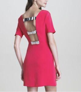 3-1-Phillip-Lim-Women-s-Silk-Bow-Pink-Shift-Dress-Size-Small