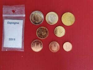 * Série complète UNC -  ESPAGNE 2011 - 8 pièces