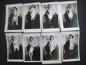 ORIGINAL 1950S PINUP PHOTO LOT OF 8... # 573-18..Risque,Nude..