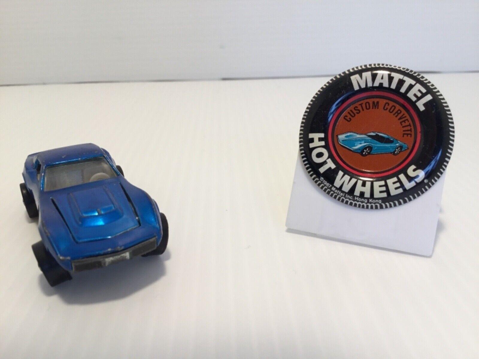 buena reputación Hot Wheels rojoline Azul Personalizado Corvette 1968 Mattel Luz Interior Interior Interior Con Pin  hasta un 50% de descuento