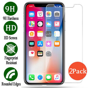 For-Apple-iPhone-XS-XR-XS-Max-Premium-Tempered-Glass-Screen-Protector-Film-2X