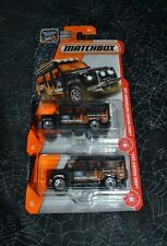 2016 MATCHBOX MBX ADVENTURE LAND ROVER DEFENDER 110 BLACK 84/125 SET OF TWO