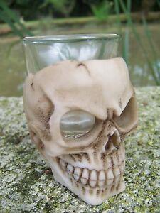 Obligeant Sk137 Shooter Verre Tete Mort Crane Figurine Heroic Fantasy Gothique Skull