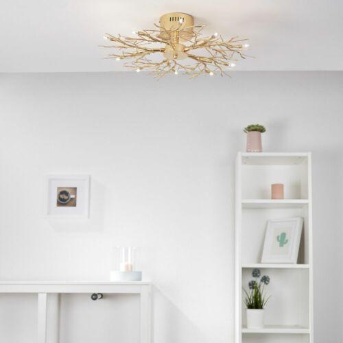 Deckenleuchte Äste Metall in Gold G4 max famlights 10 x 10W Deckenlampe Wald