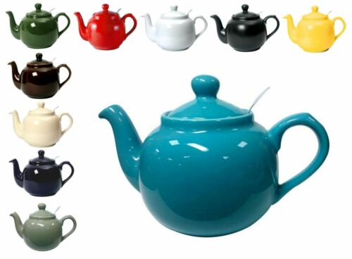 London Pottery Traditional Filter Teapot 4 Cup Various Colours