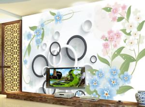 3D Sweet Petals Ring 7 Wall Paper Murals Wall Print Wall Wallpaper Mural AU Kyra