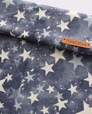 Vintage Estrellas remanente de la tela de algodón 100% 110 X 22.5cm Quilting fabric de corte