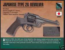 JAPANESE TYPE 26 REVOLVER 9mm Japan Hand Gun Classic Firearms ATLAS PHOTO CARD