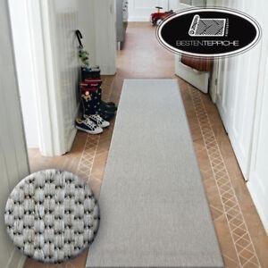Moderne-Tapis-de-Sisal-floorlux-Argent-Lisse-Largeur-70-120-cm-a-la-mode