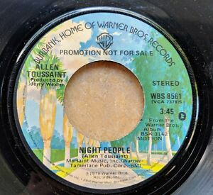 NEW-ORLEANS-R-amp-B-SOUL-promo-45-ALLEN-TOUSSAINT-Night-People-mono-stereo-Warner