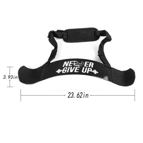 Heavy Duty Arm Blaster Gym Body Building Bicep Builder Curl Bar Weight Lifting S