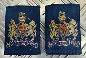 Genuine British RAF Warrant Officer WO Rank Slides 1 pair MOD - NEW RAFB20N