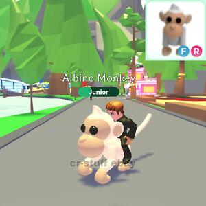 Adopt Me Roblox Albino Monkey Fly And Ride Ebay