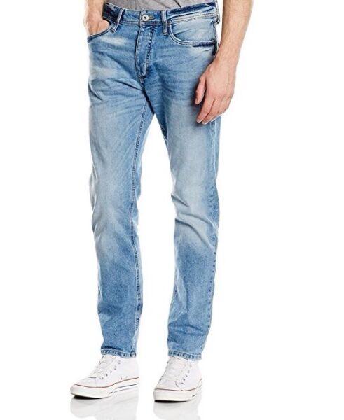 19# Jack & Jones Jjimike Jjoriginal Gamba Dritta Jeans Taglia 29/30 Rrp £ 50
