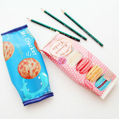 Cracker Box Pencil Pen Case Roll Cosmetic Pouch Pocket Holder Makeup Bag New