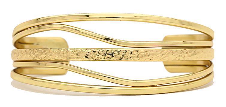 High Tide - Sergio Lub - Solid Copper Cuff Bracelet Non-Magnetic Medium 6-7in