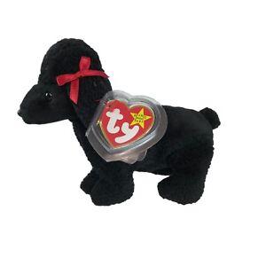 950576ef2a7 Ty Original Beanie Baby Gigi Black Poodle Plush Stuffed Animal Dog ...