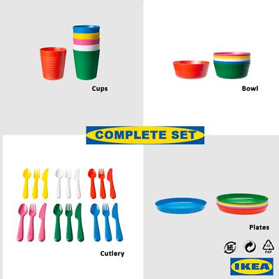 Ikea Kalas enfants pour enfants en Plastique Plaque tasses bols et couverts par IKEA