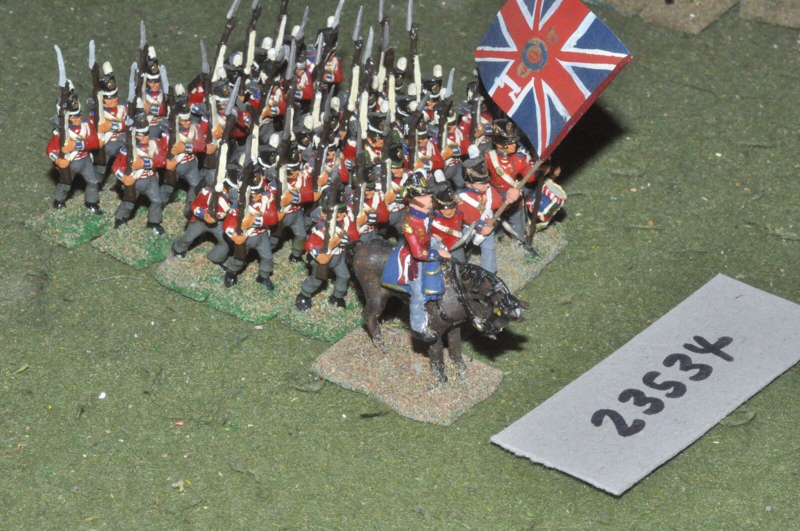 25mm napoleonic   british - line 35 figures - inf (23534)