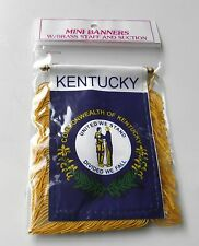 KENTUCKY MINI POLYESTER US STATE FLAG BANNER 3 X 5 INCHES