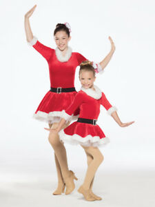 Christmas Ice Skating Costumes.Details About New Figure Ice Skating Baton Twirling Holiday Costume Christmas Santa Red