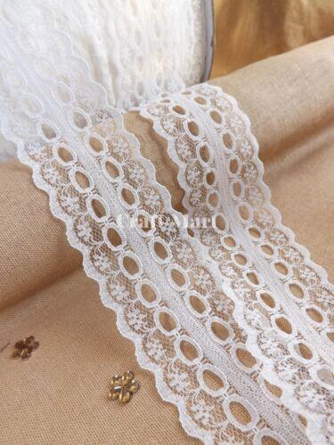 Vintage Antiguo Marfil Encaje de corte de cinta de costura de boda nupcial Shabby Craft
