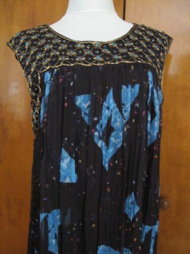 Anthropologie Moulinette Soeurs women's black evening dress 8 10 NWT runs big
