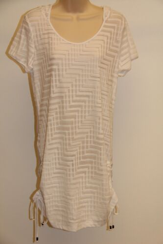 New Dotti Swimwear Cover Up Dress Size L Hodded White