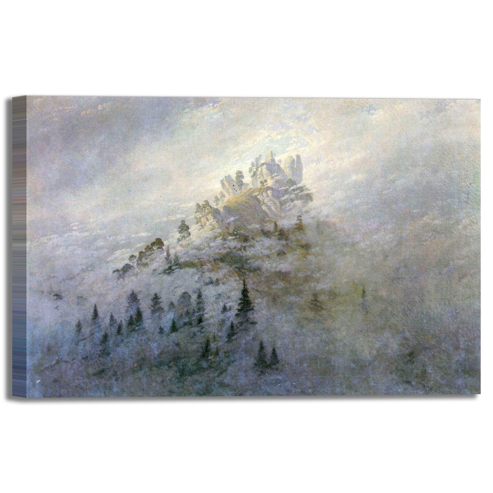 Caspar nebbia di mattina design quadro stampa tela tela tela dipinto telaio arrossoo casa 9422ea