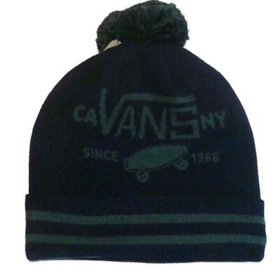 6e75ac46 Details about VANS FULL PATCH POM POM BEANIE HAT - BOBBLE HAT WINTER HAT  V2UKADI VN-0-2UKBLK