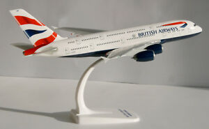 British-Airways-Airbus-A380-800-1-250-Herpa-Snap-Fit-609791-Flugzeug-Modell-A380